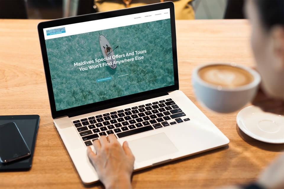 lets go maldives website design